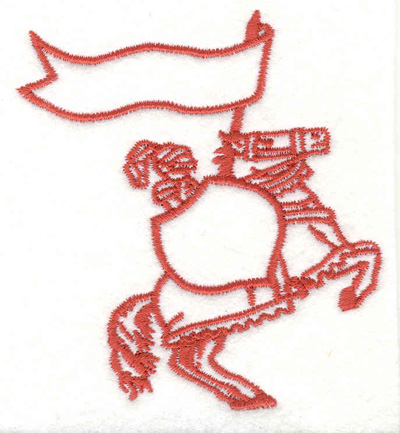 """Embroidery Design: Knight and Horse  3.47"""" x 3.17"""""""