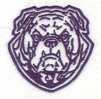 """Embroidery Design: Bulldog P2.58"""" x 2.54"""""""