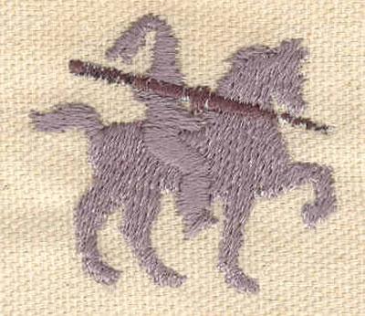 Embroidery Design: Knight 1.57w X 1.43h