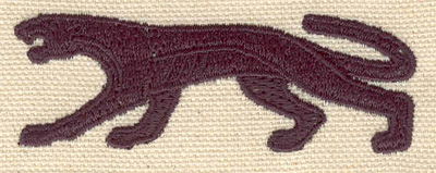 Embroidery Design: Cougar prowling 2.81w X 0.99h
