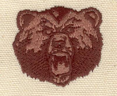 Embroidery Design: Bear head C 1.63w X 1.51h