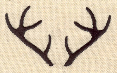 Embroidery Design: Deer antlers 3.27w X 1.87h