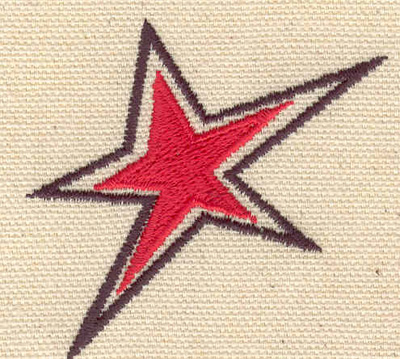 Embroidery Design: Star 2.24w X 2.15h