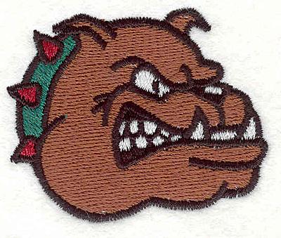 """Embroidery Design: Bulldog Q2.16"""" x 2.57"""""""