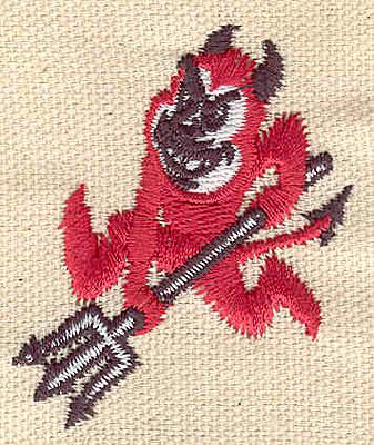 Embroidery Design: Devil C 1.62w X 1.94h