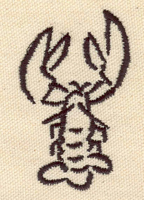 Embroidery Design: Lobster M 1.61w X 2.59h
