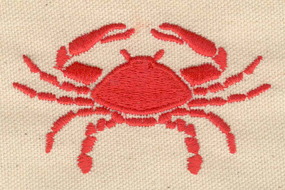 Embroidery Design: Crab N3.06w X 1.79h