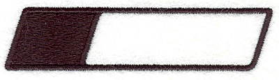 """Embroidery Design: Banner 130.84"""" x 3.54"""""""