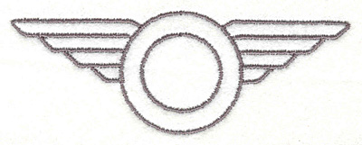 """Embroidery Design: Wings1.72""""x4.72"""""""
