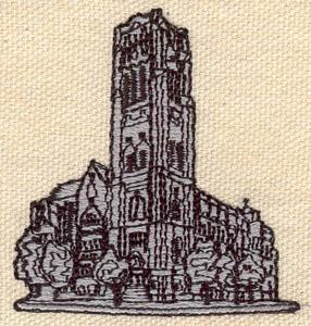 Embroidery Design: Church 2.18w X 2.22h