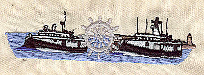 Embroidery Design: Riverboat 3.40w X 0.91h