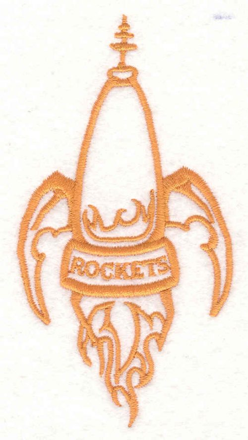 Embroidery Design: Rocket 4.52w X 2.40h