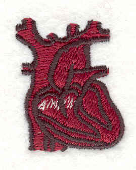 Embroidery Design: Heart1.30w X 1.07h