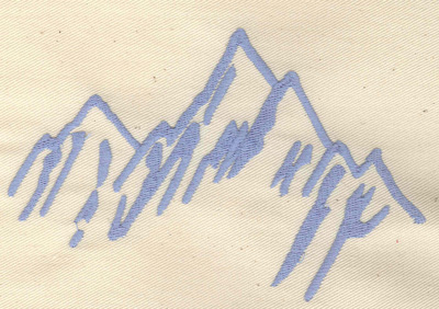 Embroidery Design: Mountains 5.44w X 3.50h
