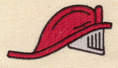 Embroidery Design: Firefighter helmet 2.92w X 1.52h
