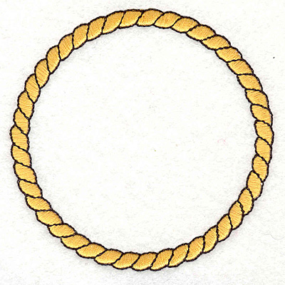"Embroidery Design: Rope3.39""x3.37"""