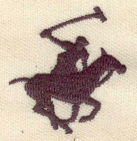 Embroidery Design: Polo player 1.20w X 1.33h