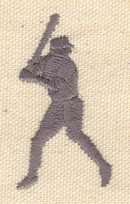 Embroidery Design: Baseball player 1.06w X 1.94h
