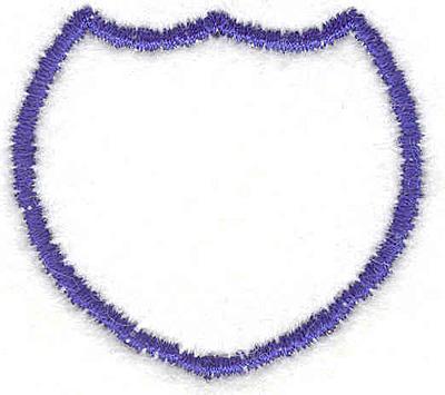 """Embroidery Design: Shield 41.72""""x2.36"""""""
