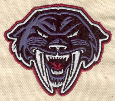 Embroidery Design: Panther head 3.54w X 3.04h