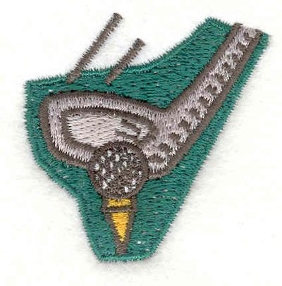 """Embroidery Design: Golf tee off 1.89""""w X 1.90""""h"""