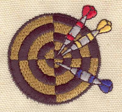 Embroidery Design: Darts in board 1.87w X 1.97h