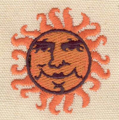 Embroidery Design: Sun A 2.01w X 2.15h