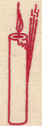 Embroidery Design: Candle 0.84w X 3.32h