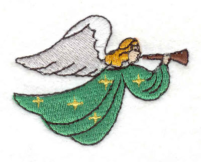 """Embroidery Design: Angel 2.30""""w X 1.73""""h"""