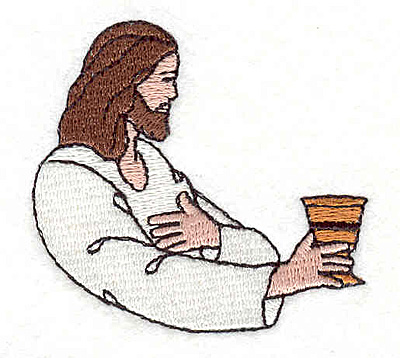 """Embroidery Design: Christ offering 2.16""""w X 2.02""""h"""