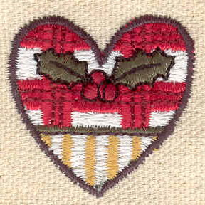 Embroidery Design: Holly in heart 1.33w X 1.30h