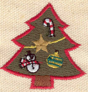 Embroidery Design: Christmas tree 1.78w X 1.78h