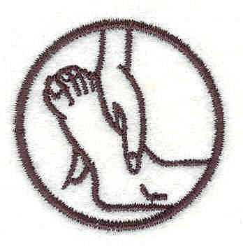 Embroidery Design: Hand & Foot 1.52w X 1.53h