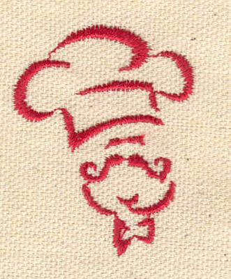 Embroidery Design: Chef 1.39w X 1.76h