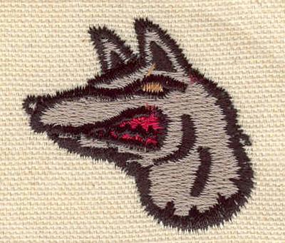 Embroidery Design: Jackal 1.76w X 1.57h
