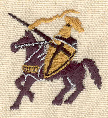 Embroidery Design: Knight A 1.65w X 1.75h