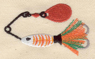 Embroidery Design: Fishing Lure 2.34w X 1.44h
