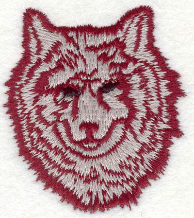 "Embroidery Design: Wolf head J 2.15""w X 2.40""h"