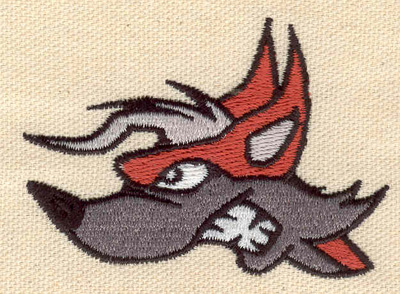 Embroidery Design: Fox head 2.87w X 2.04h