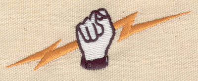 Embroidery Design: Electric hand 3.66w X 1.25h