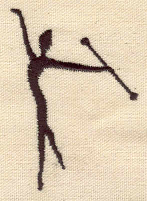 Embroidery Design: Dancer J 2.17w X 3.06h