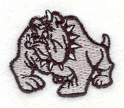 """Embroidery Design: Bulldog R1.28"""" x 1.59"""""""