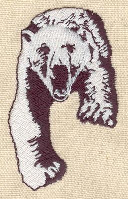 Embroidery Design: Polar Bear C 1.95w X 3.22h