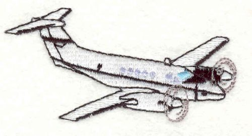 Embroidery Design: Army Plane1.46w X 2.98h