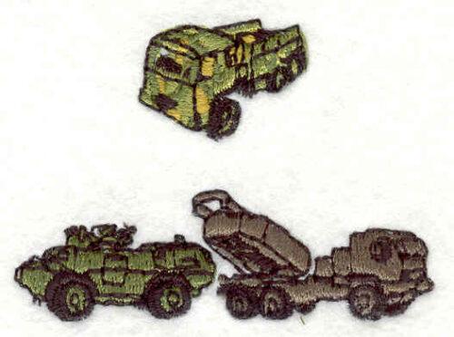 Embroidery Design: Army Trucks 1.80w X 2.39h
