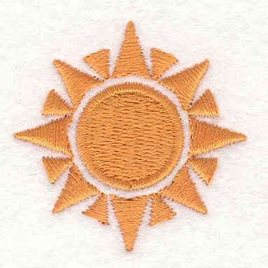 Embroidery Design: Sun1.65w X 1.65h