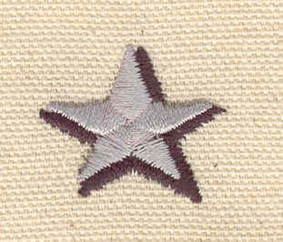 Embroidery Design: Two tone star 1.06w X 0.88h