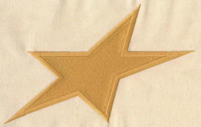 Embroidery Design: Star large 8.84w X 5.55h