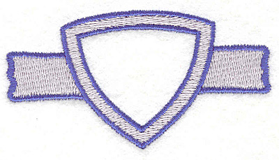 """Embroidery Design: Banner/Shield 21.62"""" x 2.91"""""""