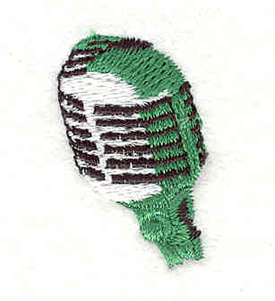 "Embroidery Design: Microphone 1.28"" X 0.83"""